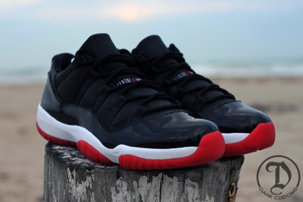 Air Jordan Bred Low 11   Free Soleheat Wristband 88789d797